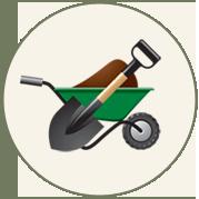 Round gardening logo